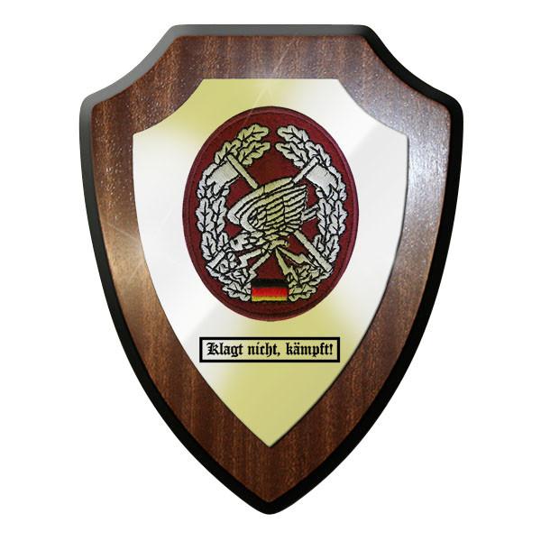 Wappenschild / Wandschild - Klagt nicht, kämpft! Fernspähtruppe FspKp - #11754