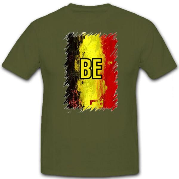 Belgien BE België Belgique schwarz gelb rot national Trikot - T Shirt #12638