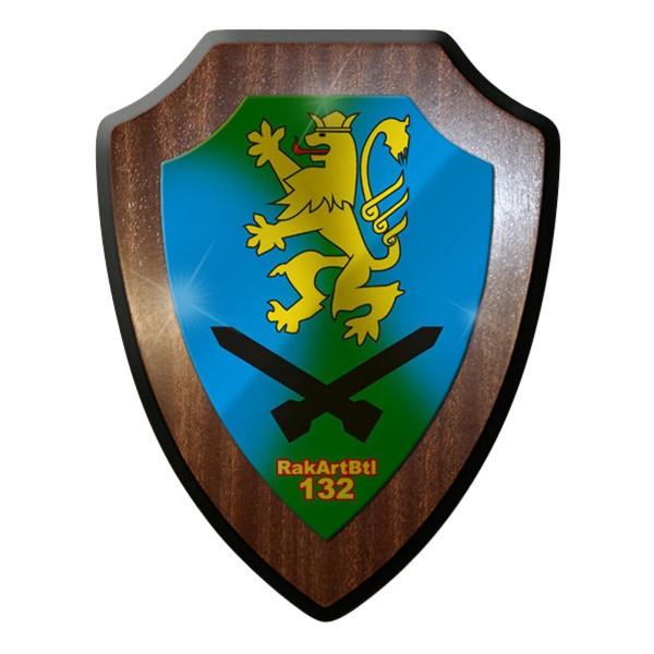 Wappenschild / Wandschild / Wappen - RakArtBtl 132 Raketen Abwehr #11191