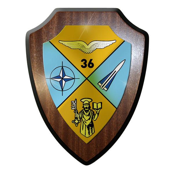 Wappenschild - FlaRakBtl 36 Flugabwehr Raketen Luftwaffe Abzeichen Emblem #10049