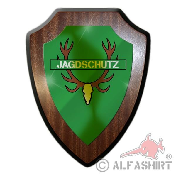 Wappenschild Jagdschutz Förster 2 Jäger Revier Wald Jagd Aufseher Geweih #27093
