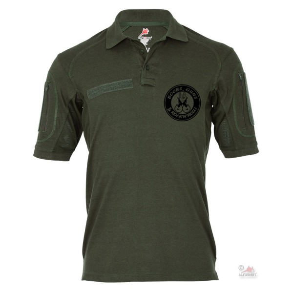 Tactical Polo Shirt Alfa - Boobs Guns Rock'n Roll Humor Fun Weapons Humor # 19147