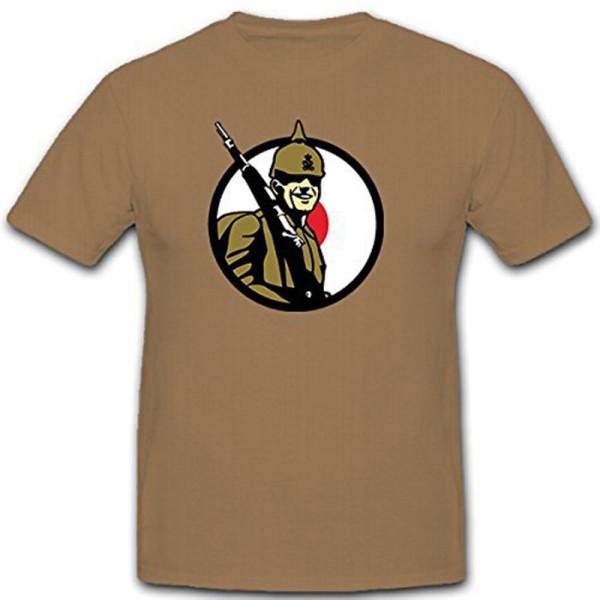 Soldat Deutschland WK 1 WW I Militär Pickelhaube Gewehr- T Shirt #11352