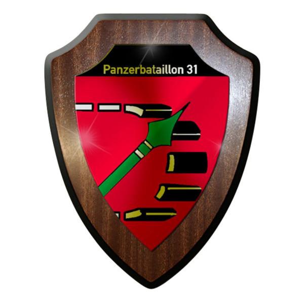 Wappenschild / Wandschild / Wappen - Panzerbataillon PzBtl 31 Bundeswehr #8338
