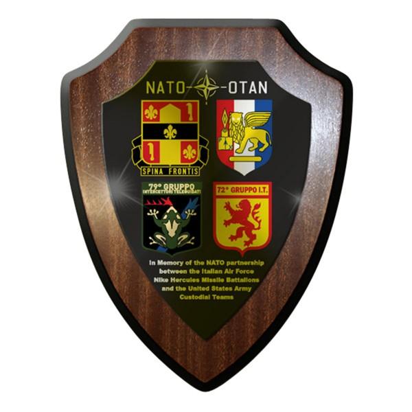 Wappenschild / Wandschild / Wappen - Italian US Army Custodial Teams NATO #7740