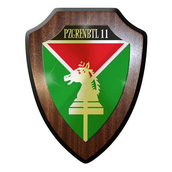 Wappenschild PzGrenBtl 11 PanzerGrenadierBataillon dran drauf drüber #9245