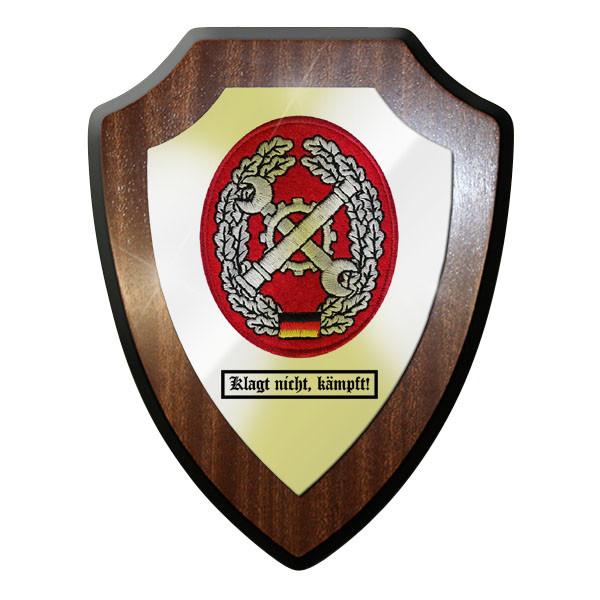 Wappenschild - Barettabzeichen Instandsetzung klagt nicht, kämpft! #11682
