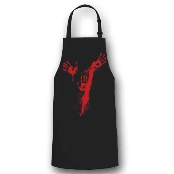 Blutspritzer Hände Metzger Blutig Halloween Aufdruck Fun - Kochschürze / #6077