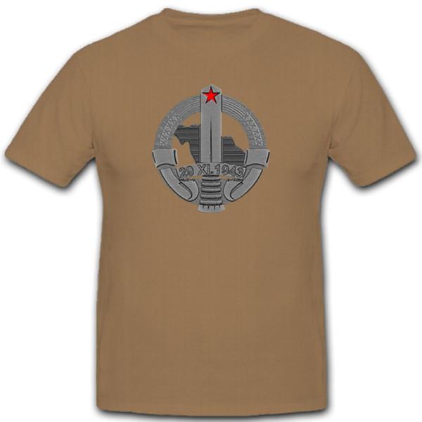 Orden Jugoslawien 29 XL 1943 Medaille Abzeichen - T Shirt #11010