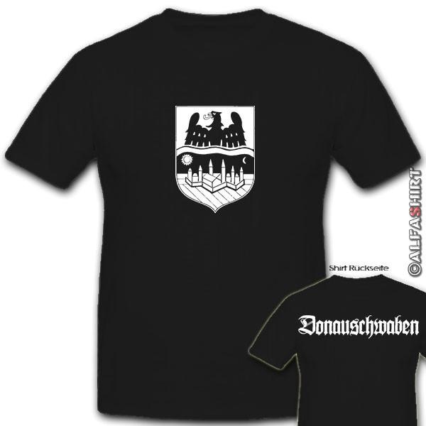 Donauschwaben Wappen Abzeichen Heimat Deutschland Österreich - T Shirt #10687