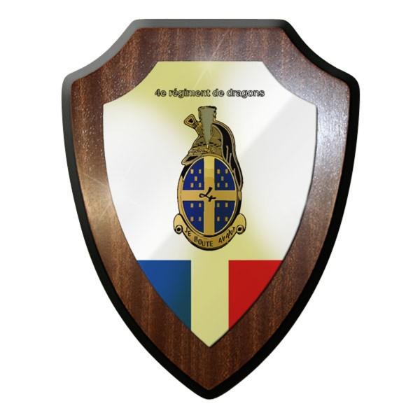 Wappenschild - 4e Régiment de dragons Frankreich französische #11693