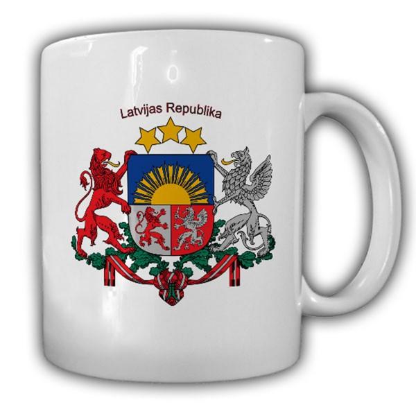 Republik Lettland Wappen Emblem Latvijas Republika - Tasse #13678