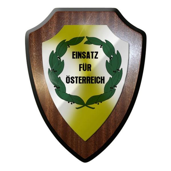 Wappenschild / Wandschild - Einsatz für Österreich EDZ Verdienstorden #12924
