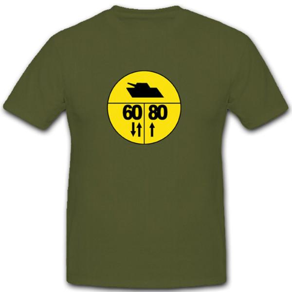 Militärische Lastenklasse Armee Straßenschild Warnschild Armee - T Shirt #3778