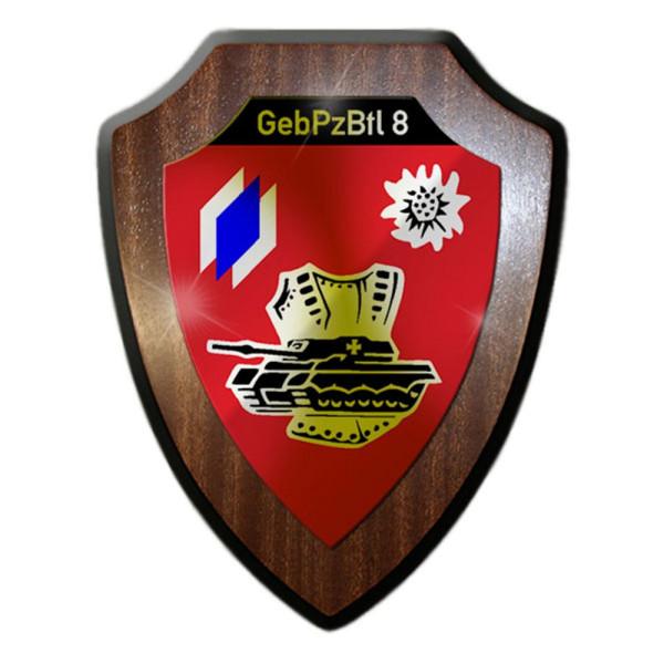 Wappenschild / Wandschild - GebPzBtl 8 Gebirgspanzerbataillon Gebirge #13158