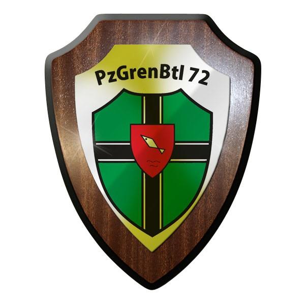 Wappenschild PzGrenBtl 72 Panzer Grandier Grenadiere dran drauf drüber #9344