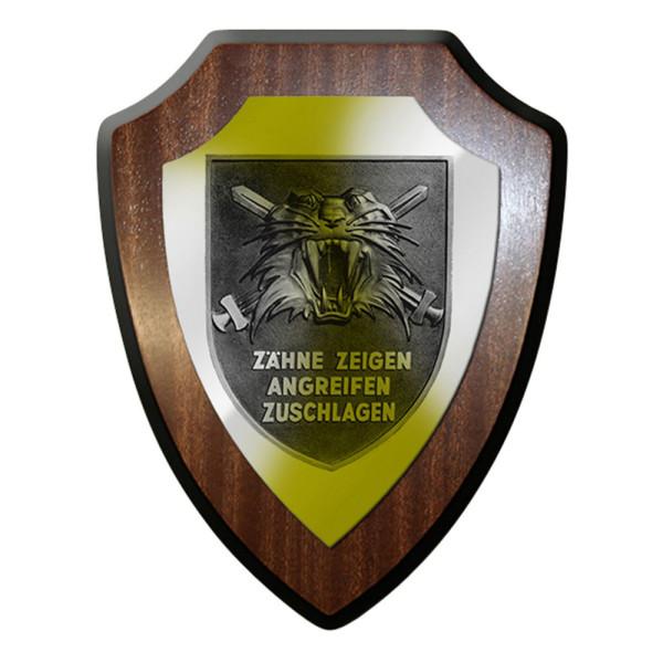 Wappenschild / Wandschild - Tigerverband 53 Zähne zeigen angreifen #12398