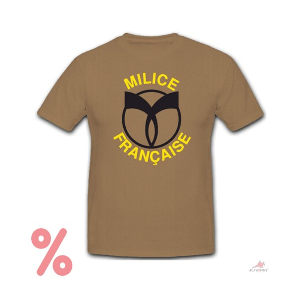 Size M - SALE Shirt Milice Francaise French Militia France # R248