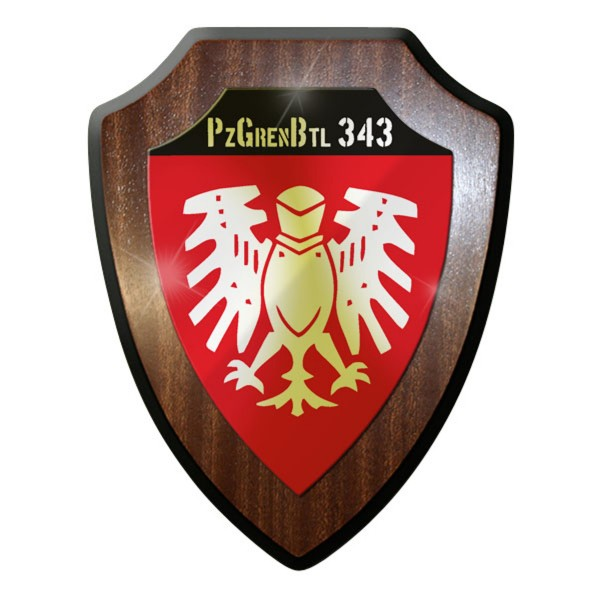 Wappenschild PzGrenBtl 343 PanzerGrenadierBataillon dran drauf drüber Bw #9243