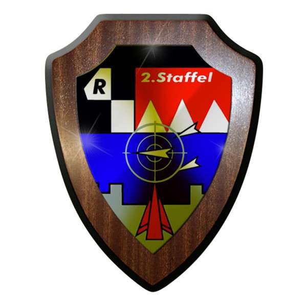 Wappenschild / Wandschild -FlaRakGrp 23 2Staffel Flugabwehr Gruppe #12672