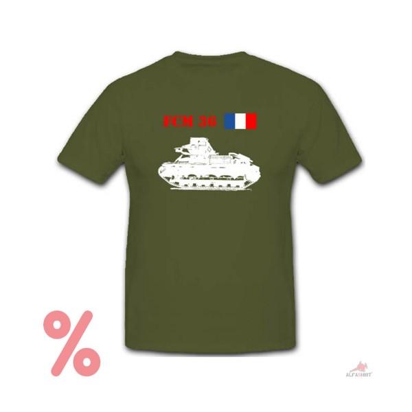 SALE Shirt Fcm 36 Light Infantry Tank France France - T-Shirt # R309