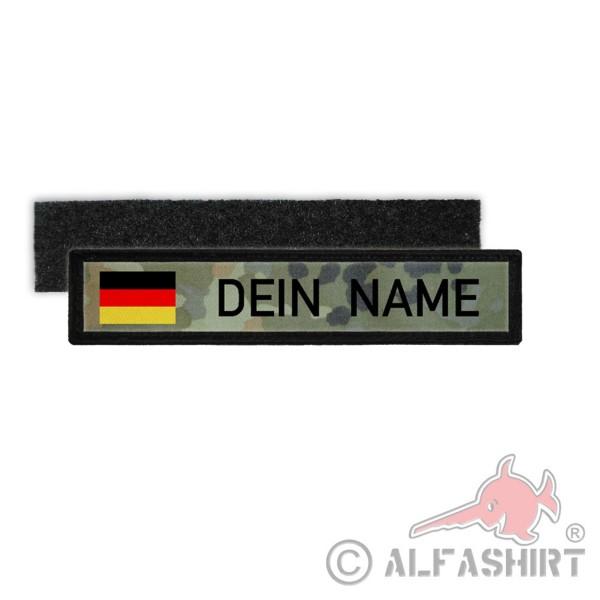 Deutschland BW Namenschild Patch mit Namen Bundeswehr Flecktarn Aufnäher #24347