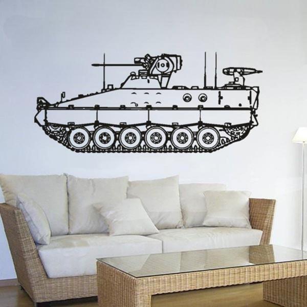 Spz Marder Bundeswehr Fahrzeug Schützenpanzer- (ca. 45x100cm schwarz) #3572