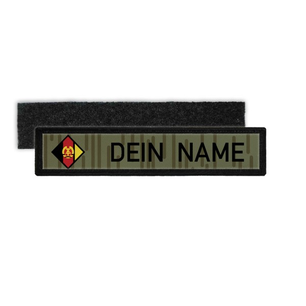 DDR NVA Namenschild Patch mit Namen Strichtarn Nationale Volksarmee #24348