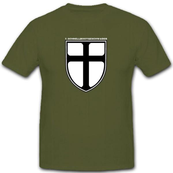 7. Schnellbootgeschwader Bundesmarine Einheit Wappen T Shirt #2878