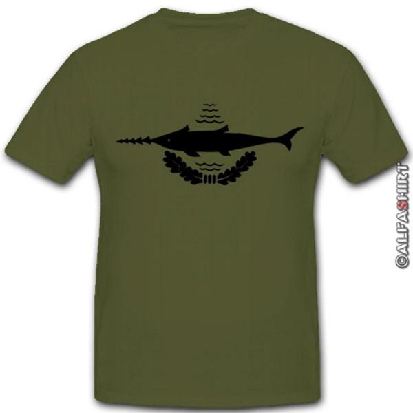 Altes BW Kampfschwimmer Wappen-Bundeswehr Marine Sägefisch Tauch- T Shirt #4223