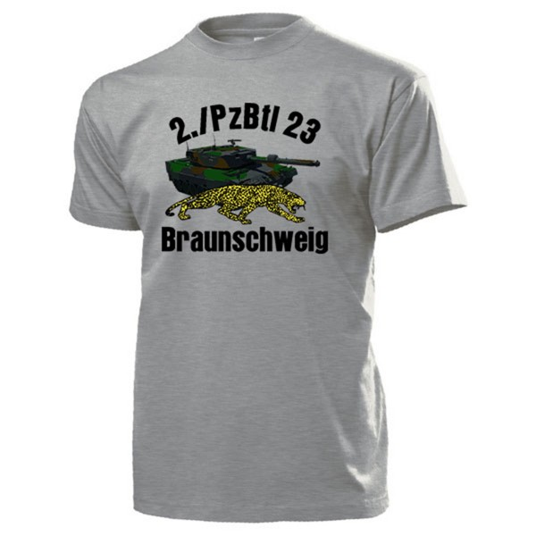 2./PzBtl 23 Braunschweig Panzerbataillon Bundeswehr Kompanie - T Shirt #14175
