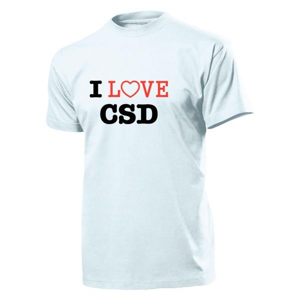 I Love CSD Christopher Street Day Schwule und Lesben Homo - T Shirt #904