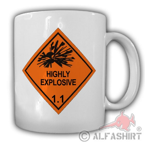 HIGHLY EXPLOSIVE Very explosive ordnance evacuation pioneer cup # 20068