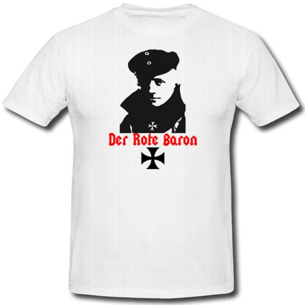 Baron Jagdflieger Held Legende WK Doppeldecker Manfred Richthofen - T Shirt #1113