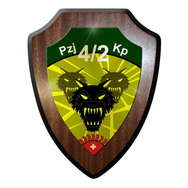 Wappenschild - Pzj Kp 4 2 Panzerjäger Kompanie 4 2 Schweizer Armee Heer #11923