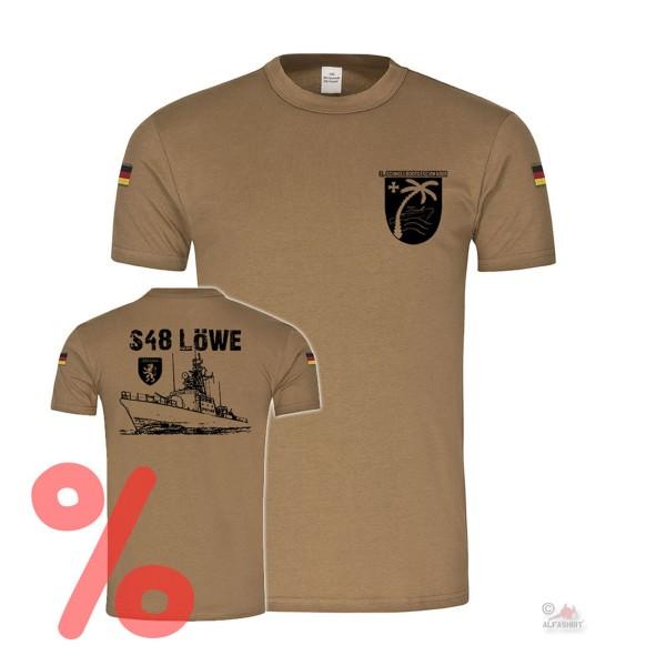 Gr. L - SALE Shirt Schnellbootgeschwader S48 Löwe Marine Bundeswehr Tiger #R1197