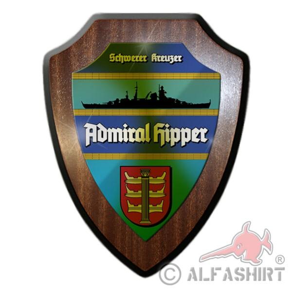 Heraldic shield heavy cruiser Admiral Hipper coat of arms badge # 12064