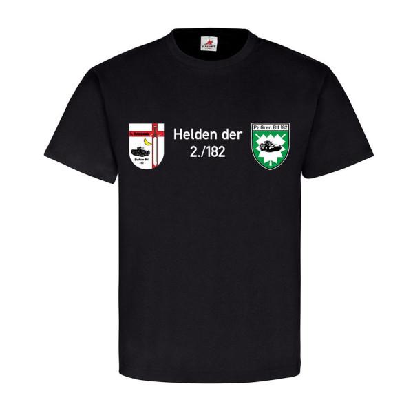 Helden der 2-182 farbig PzGrenBtl 182 2 Kompanie Bundeswehr - T Shirt #12228