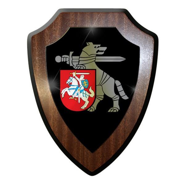 Wappenschild - Litauische Streitkräfte Lietuvos Wolf Abzeichen #11966