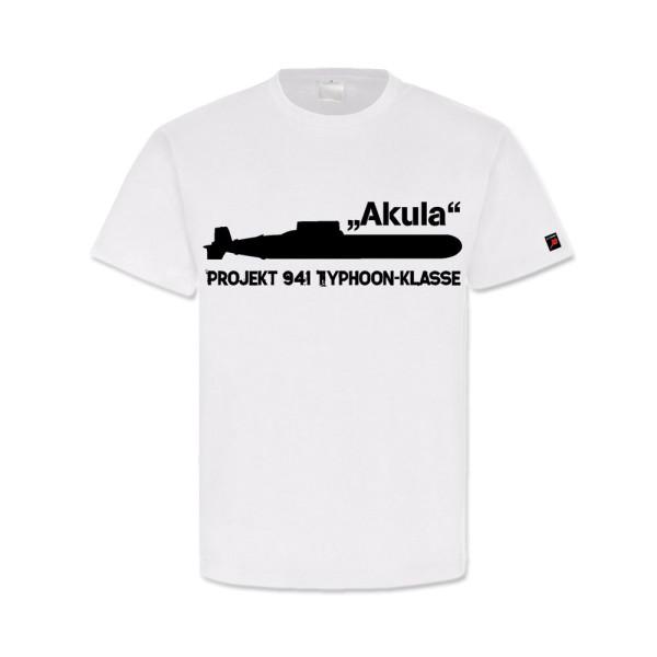 Akula Projekt 941 Typhoon Klasse U-Boot Sowjetunion Marine- T Shirt #13191