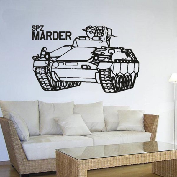 Spz Marder Bundeswehr Fahrzeug Schützenpanzer- Wandschmuck (ca. 45x71cm ) #3575