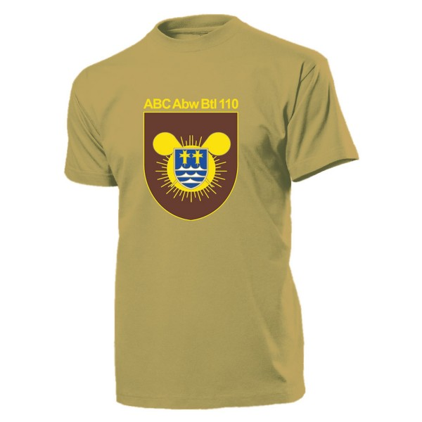 ABC Abw Btl 110 Wappen Bundeswehr Atom Bio Chemie Nuklear - T Shirt #11053