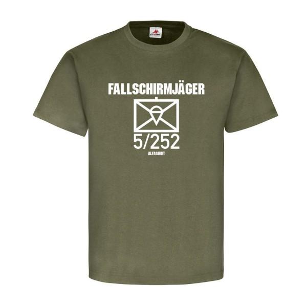 Fallschirmjäger 5-252 FschJgBtl Kompanie Taktisches Zeichen T Shirt #20274