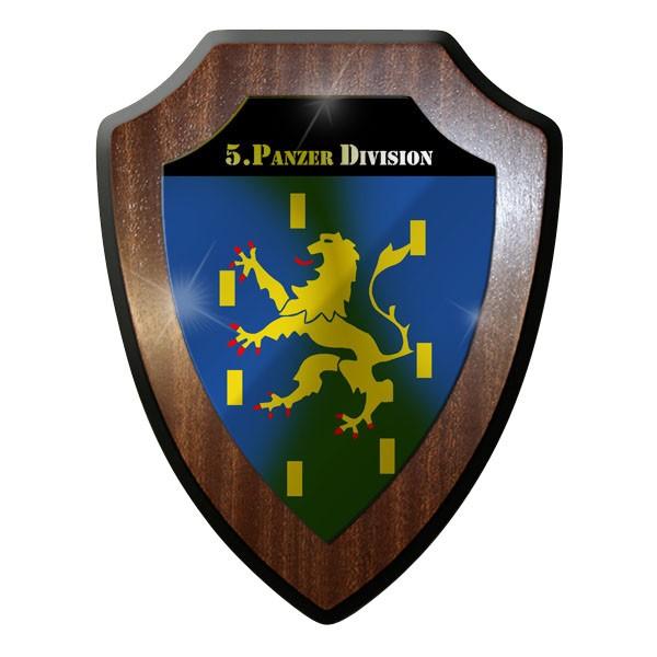 Wappenschild / Wandschild / - 5. Panzer Division Panzerdivision Bw #8881