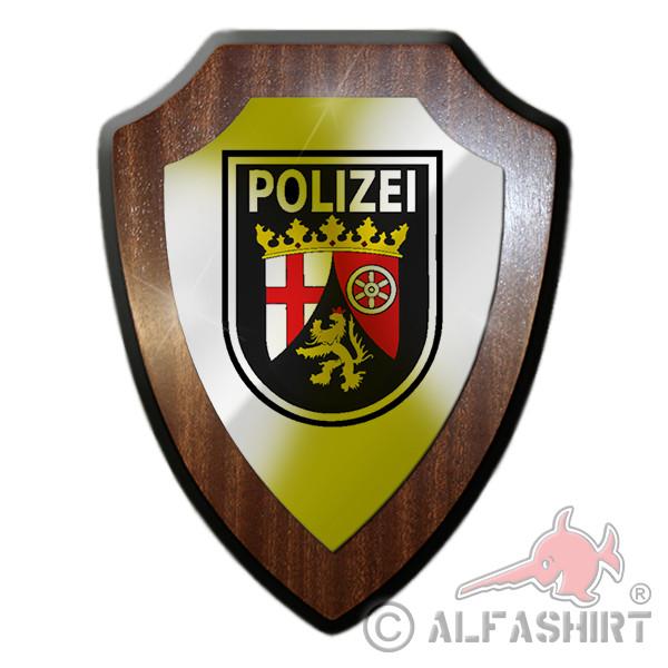 Wappenschild / Wandschild - Polizei Rheinland-Pfalz Wappen Abzeichen Andenken Geschenk Emblem #18782