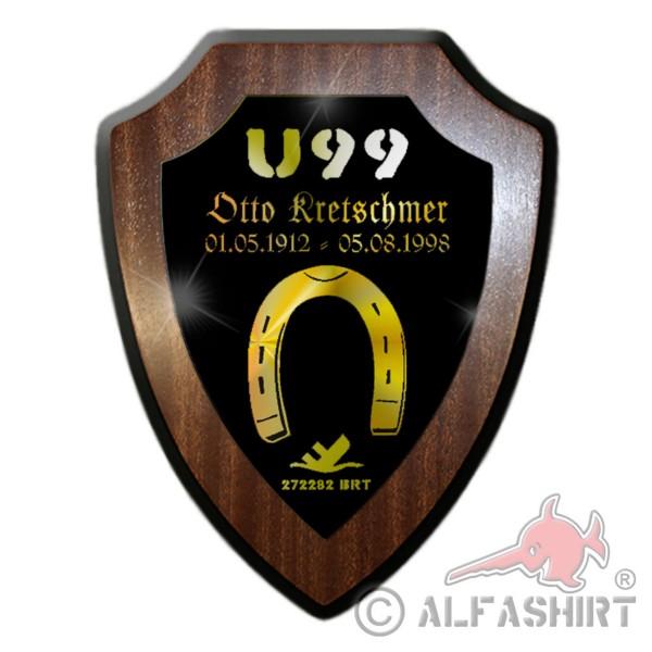 Wappenschild Otto Kretschmer U99 U-Boot Kommandant Hufeisen Wappen #32015