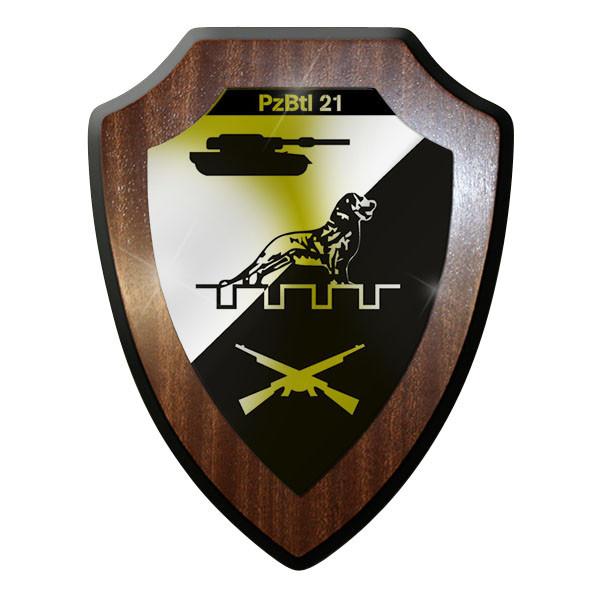 Wappenschild - PzBtl 21 Panzerbataillon Panzer Bataillon Bundeswehr #12210