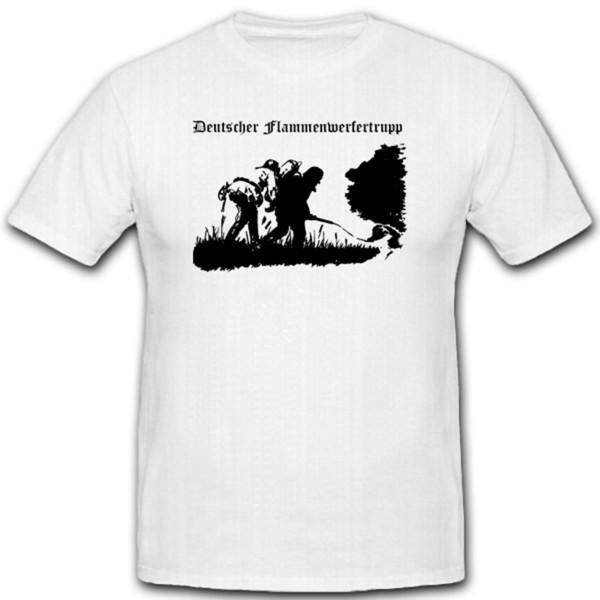 Flammenwerfertrupp WH Sturmpioniere Ostfront Bunker Russen WK Feuer - T Shirt #1884