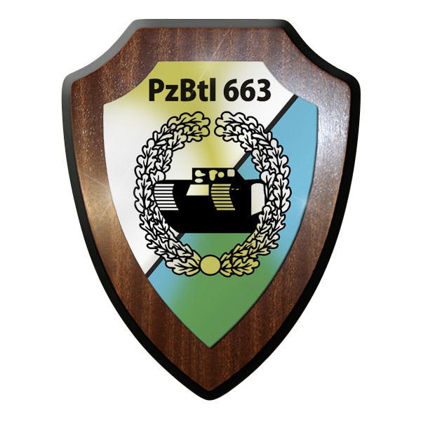 Wappenschild PzBtl 663 Panzerbataillon Panzer Bataillon Kettenfahrzeug #9339