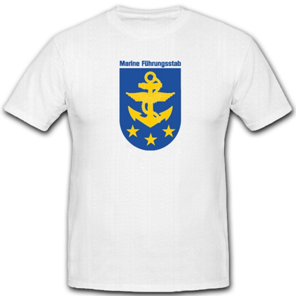 Bundeswehr Abzeichen Marine Führungsstab Wappen Bundesmarine- T Shirt #4440